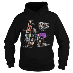 Love fast and furious movies characters signatures  Hoodie