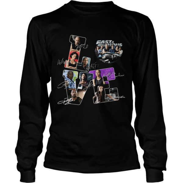 Love fast and furious movies characters signatures  Long Sleeve