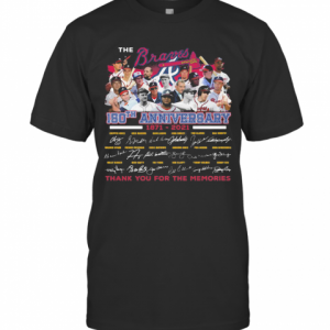 The Atlanta Braves 150Th Anniversary 1871 2021 Thank You For The Memories Signatures T-Shirt Classic Men's T-shirt