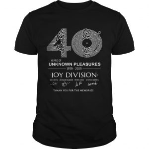 0 year of unknown pleasures 19792019 Joy Division Thank You for The Memories  Unisex