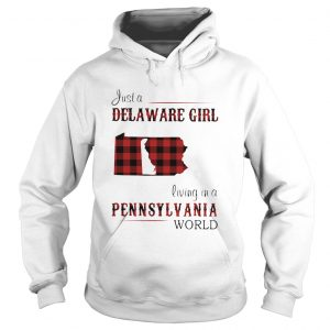 Just a delaware girl living in a pennsylvania world map  Hoodie