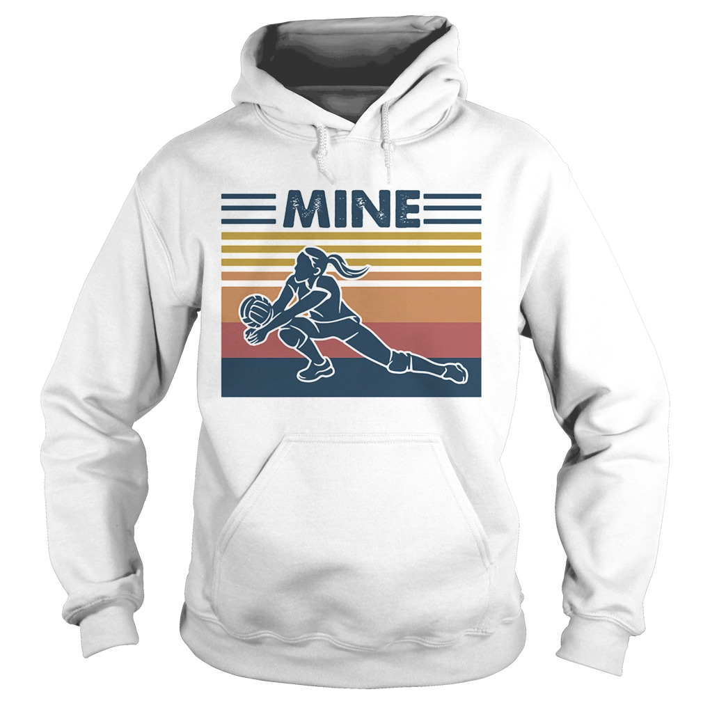 Love volleyball mine vintage retro  Hoodie