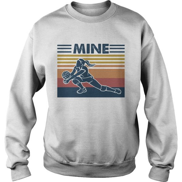 Love volleyball mine vintage retro  Sweatshirt
