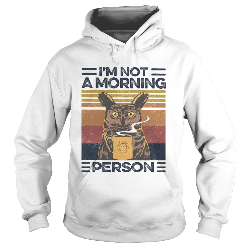 Im Not A Morning Person Owl Vintage Retro  Hoodie