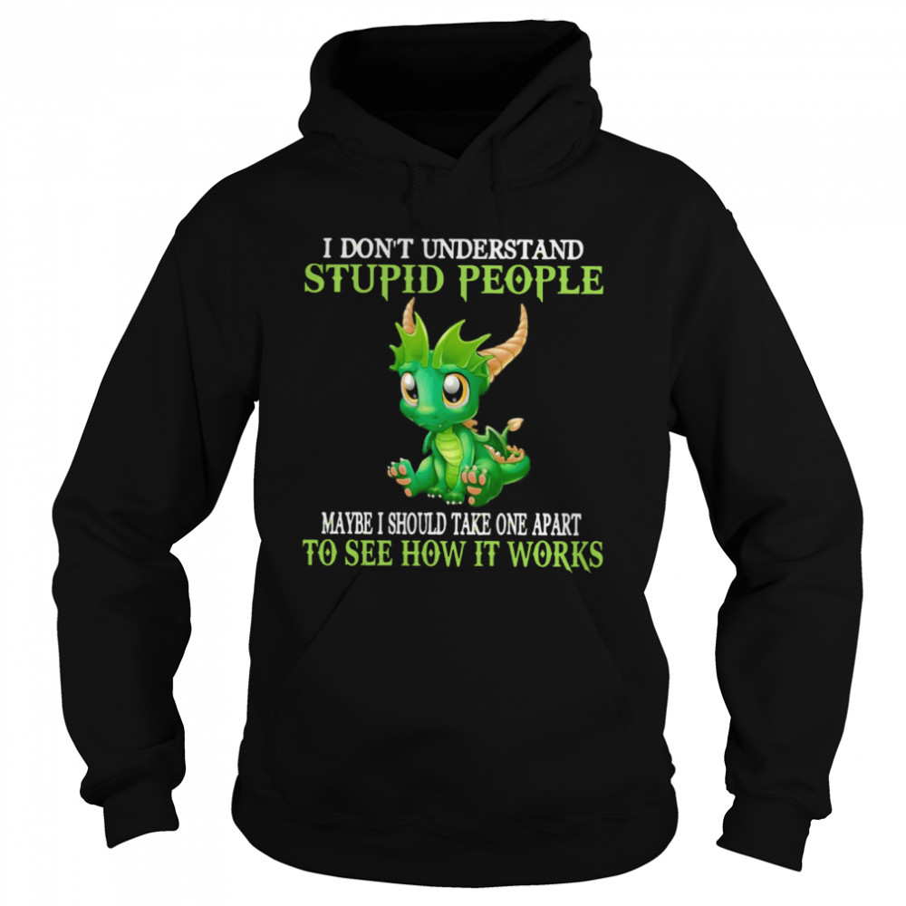 Dragon I Don't Understand Stupid People Maybe I Should Take one Apart To See How It Works  Unisex Hoodie