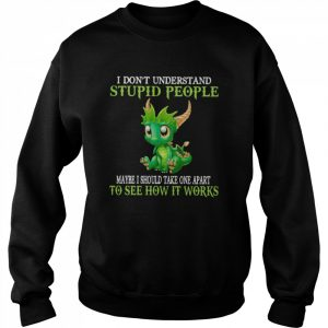 Dragon I Don't Understand Stupid People Maybe I Should Take one Apart To See How It Works  Unisex Sweatshirt