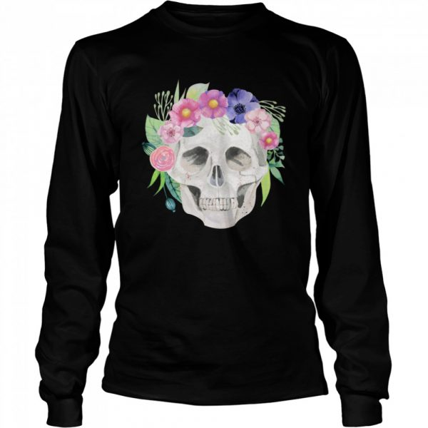 Sugar Skull Simple Day Of The Dead  Long Sleeved T-shirt