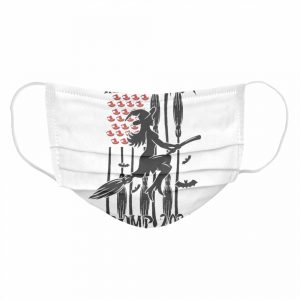 Witches for Trump Halloween US Flag Broomstick Hat  Cloth Face Mask