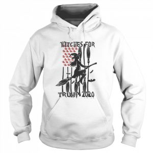Witches for Trump Halloween US Flag Broomstick Hat  Unisex Hoodie