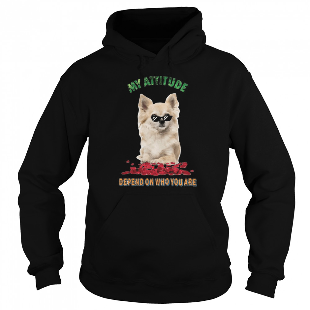My Attitude Depend On Who You Are  Unisex Hoodie