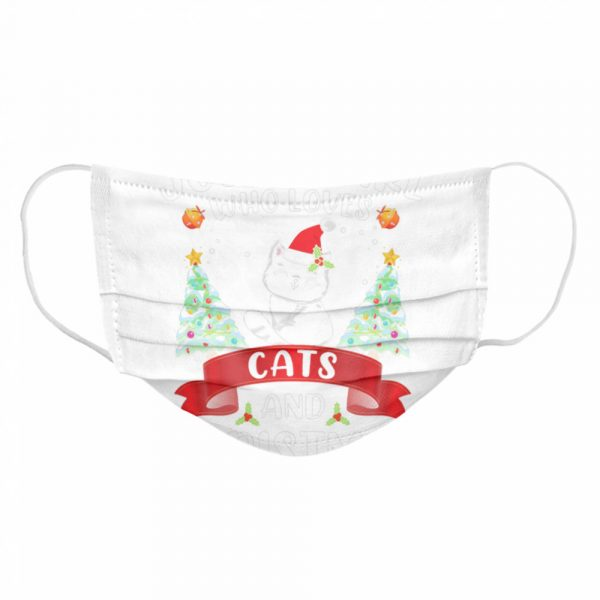 Just A Girl Who Loves Cat And Christmas Gift Christmas  Cloth Face Mask