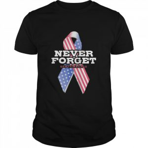 Breast Cancer American Never Forget September 11  Classic Men's T-shirt