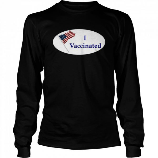 I Vaccinated 2020 American Flag  Long Sleeved T-shirt