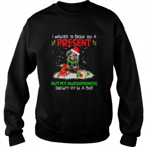 Santa Dachshund I Wanted Bring You A Present But My Awesomeness Doesn't Fit In A Box Christmas  Unisex Sweatshirt