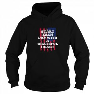 Start Each Day With A Grateful Heart Christmas  Unisex Hoodie