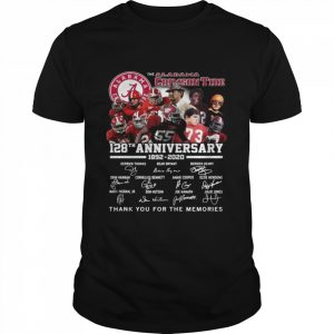 The Alabama Crimson Tide 128th Anniversary 1892 2020 Thank You For The Memories Signatures  Classic Men's T-shirt