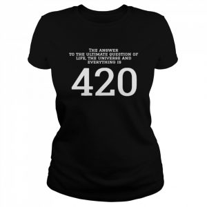 The answer to the ultimate question of life the universe and everything is 420  Classic Women's T-shirt