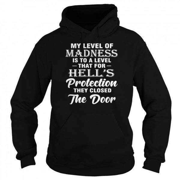 My Level Of Madness Is To A Level That For Hell's Protection They Closed The Door  Unisex Hoodie